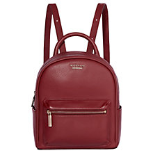 Buy Modalu Maddie Leather Mini Backpack, Berry Online at johnlewis.com