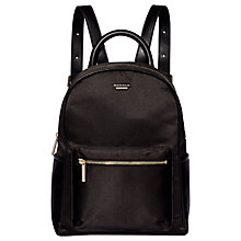 Buy Modalu Maddie Backpack, Black Satin Online at johnlewis.com