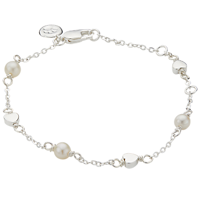 Molly Brown London Sterling Silver Pearl Station Heart Bracelet Review