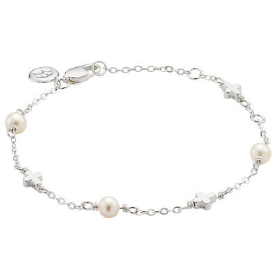 Molly Brown London Sterling Silver Pearl Station Crosses Bracelet Review