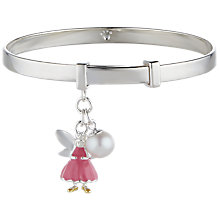 Buy Molly Brown London Sterling Silver Fairy Wish Bangle, Pink Online at johnlewis.com
