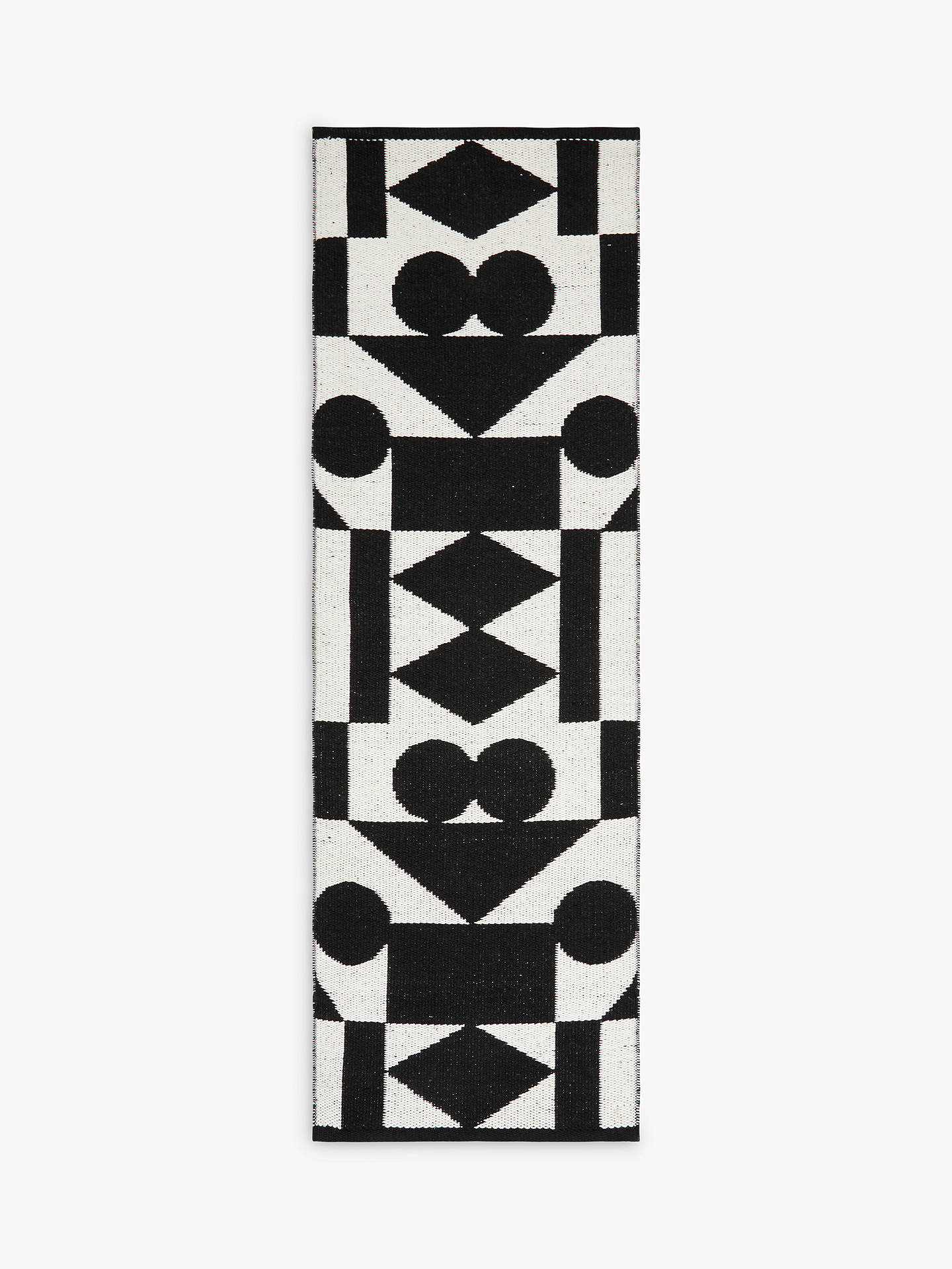 Patternity John Lewis Ritual Reflect Runner Rug Black White At