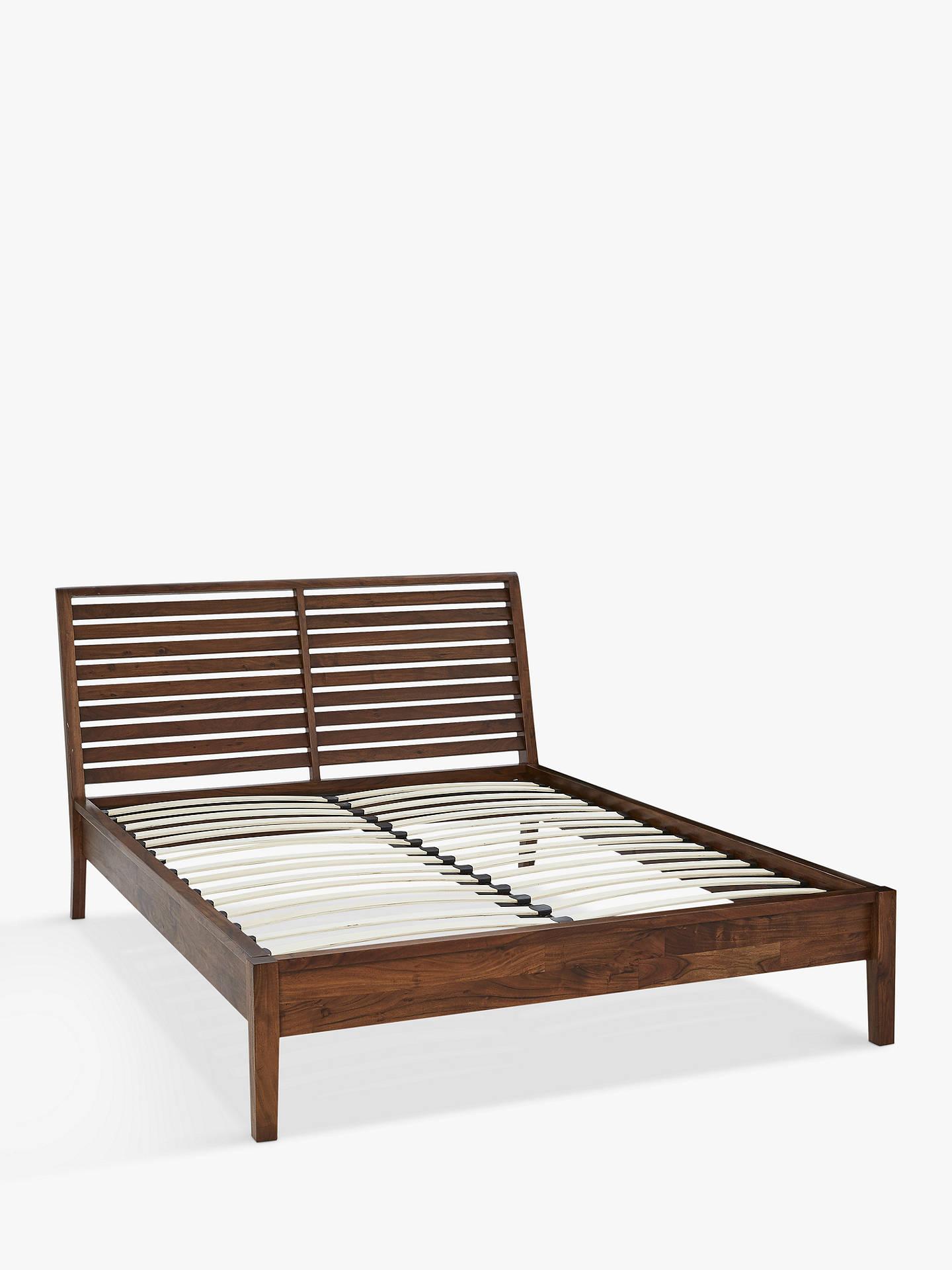 John Lewis & Partners Padma Slatted Bed Frame, Double, Brown at John ...