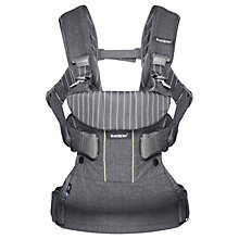 Buy BabyBjörn One Baby Carrier, Pinstripe Grey Online at johnlewis.com