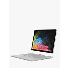 "Buy Microsoft Surface Book 2, Intel Core i7, 16GB RAM, 512GB SSD, 13.5"", PixelSense Display, Silver Online at johnlewis.com"