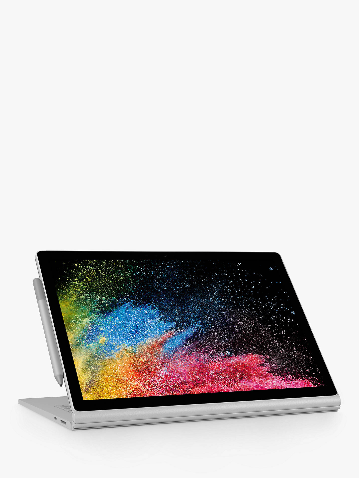 "BuyMicrosoft Surface Book 2, Intel Core i7, 16GB RAM, 1TB SSD, 13.5"", PixelSense Display, Silver Online at johnlewis.com"