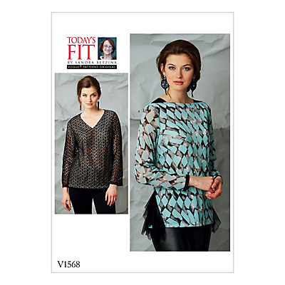 Product photo of Vogue women s tops sewing pattern 1568