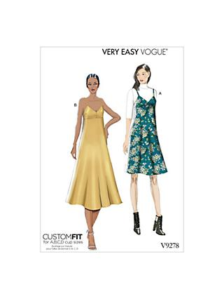 Vogue Women's Slip Dress Sewing Pattern, 9278