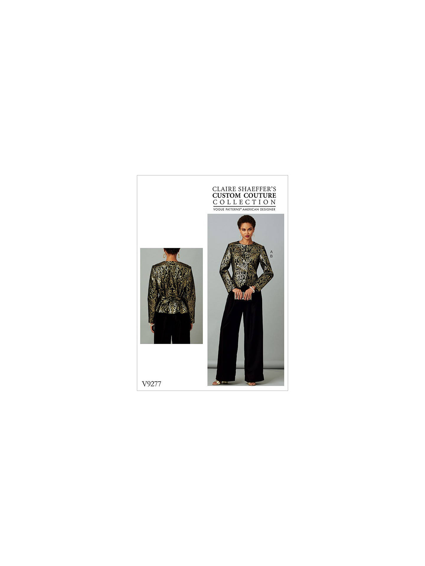 Vogue Women's Jacket And Trousers Sewing Pattern, 9277
