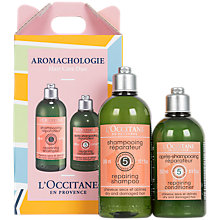 Buy L'Occitane Aromachologie Hair Repair Duo Gift Set Online at johnlewis.com