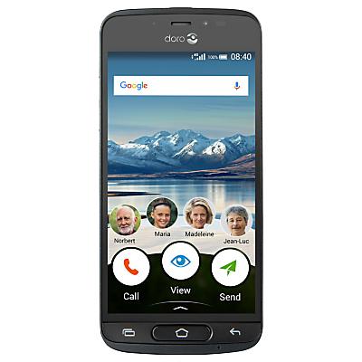 Image of Doro 8040 Smartphone, 5, 4G, 16GB, SIM Free, Black