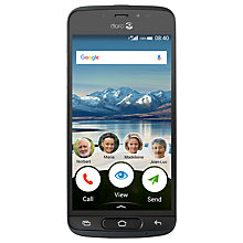"Buy Doro 8040 Smartphone, 5"", 4G, 16GB, SIM Free, Black Online at johnlewis.com"