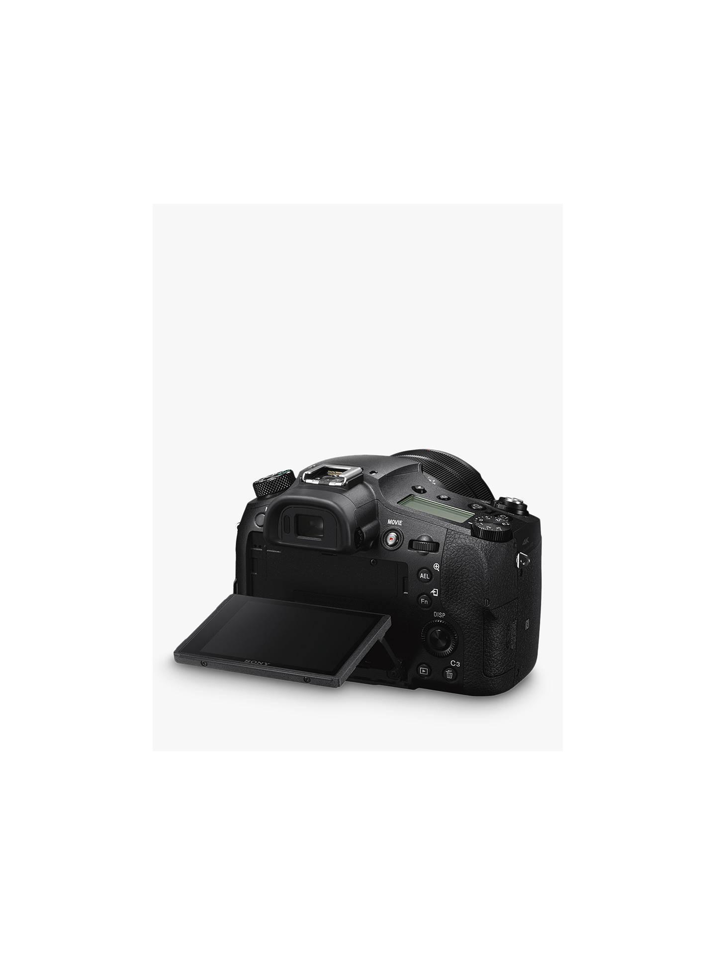 Sony Cyber-Shot DSC-RX10 IV Bridge Camera, 4K Ultra HD, 20 1MP, 25x Optical  Zoom, Wi-Fi, NFC, EVF, 3