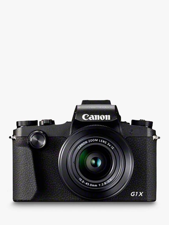 "Buy Canon PowerShot G1 X Mark III Digital Camera, HD 1080p, 24.2MP, 3x Optical Zoom, Bluetooth, NFC, Wi-Fi, EVF, 3"" Vari-angle Touch Screen Online at johnlewis.com"