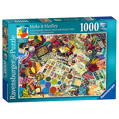 Image of Ravensburger Make It Medley Jigsaw Puzzle, 1000 pieces