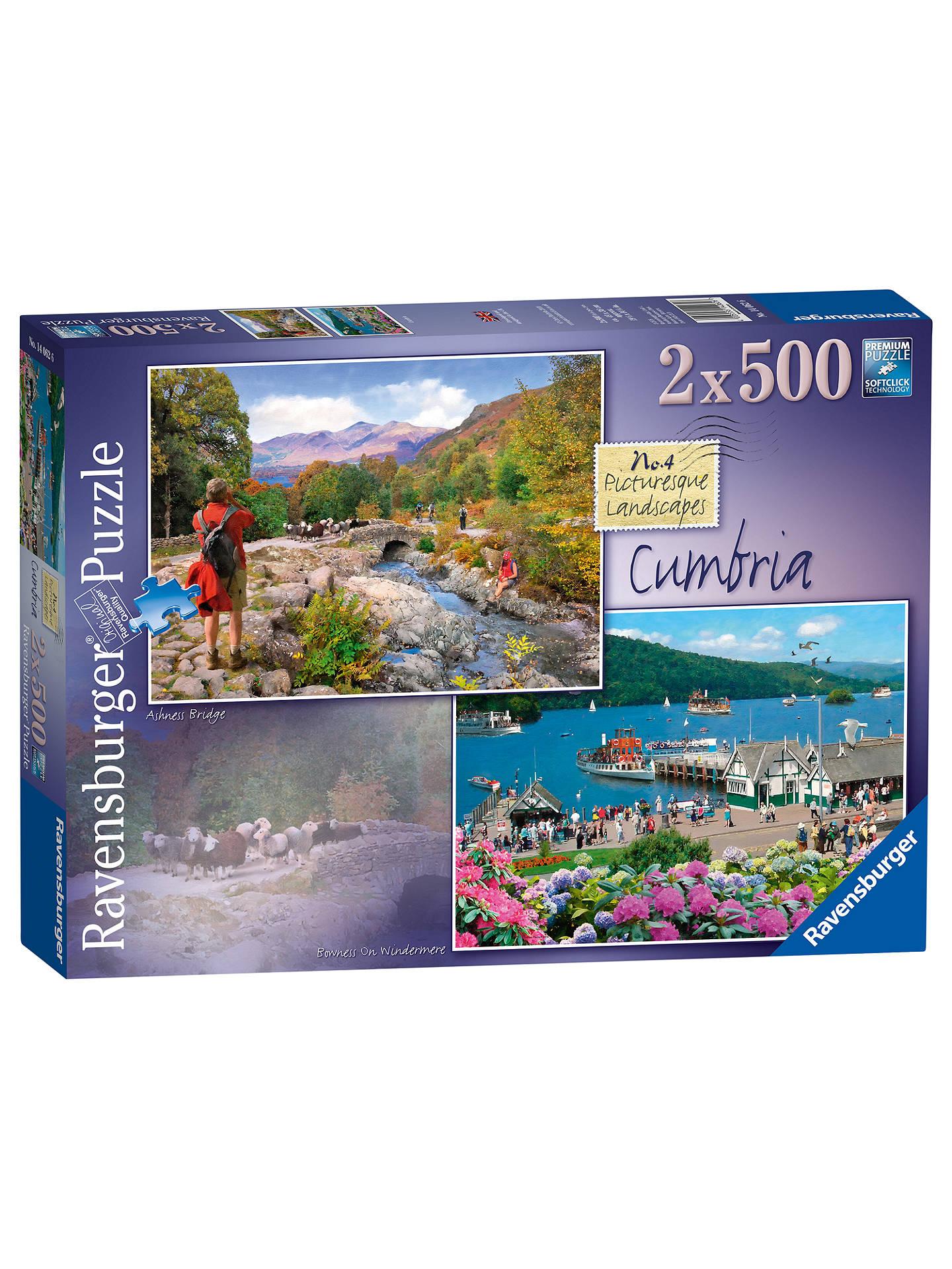 ravensburger picturesque cumbria jigsaw puzzles 500 pieces pack of