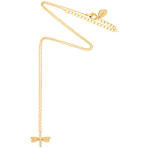 Buy Estella Bartlett Faux Pearl and Glass Crystal Dragonfly Pendant Necklace, Gold Online at johnlewis.com