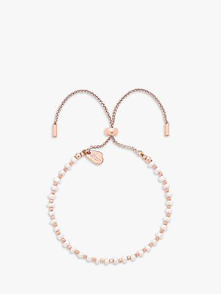 Estella Bartlett Faux Pearl Amelia Friendship Bracelet, Rose Gold