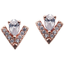 Buy CARAT* London Victoria Pear Cut Stud Earrings, Rose Gold Online at johnlewis.com