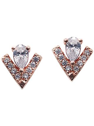 CARAT* London Victoria Pear Cut Stud Earrings