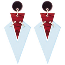 Buy Toolally Art Deco Drop Earrings, Sky Blue/Tortoise Online at johnlewis.com