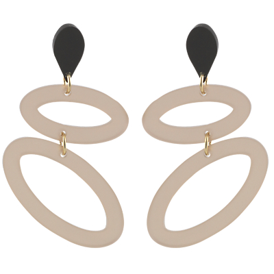 Product photo of Toolally ellipses drop earrings