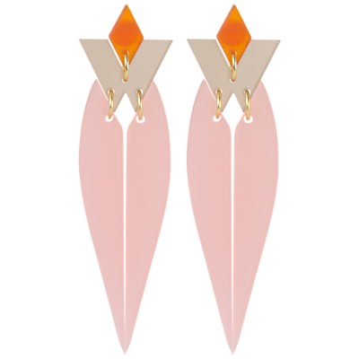 Product photo of Toolally hrh drop earrings blush