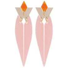 Buy Toolally HRH Drop Earrings, Blush Online at johnlewis.com