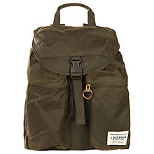 Buy Barbour Archive Waxed Cotton Backpack, Olive Online at johnlewis.com
