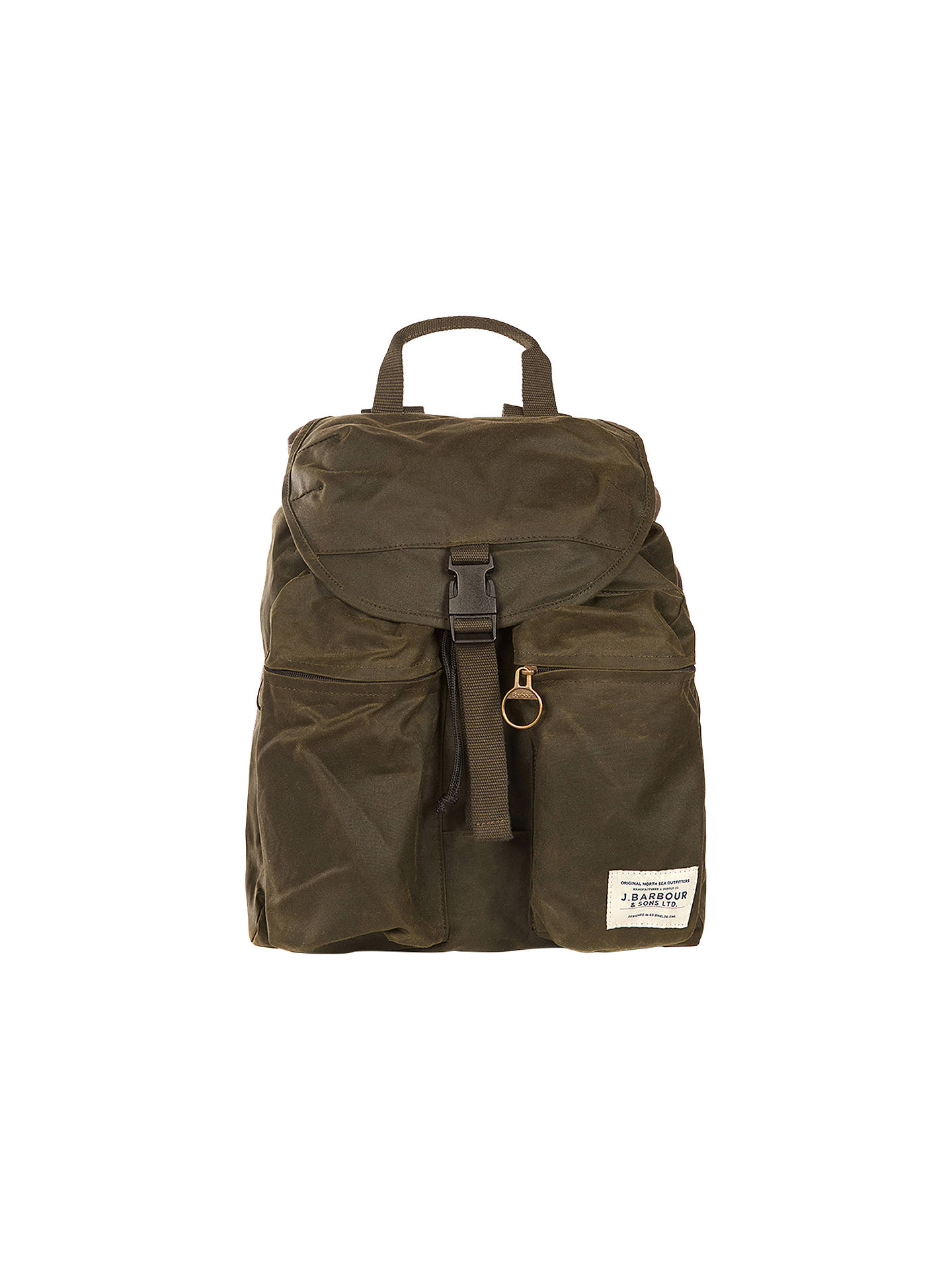 c8ccaf39a Barbour Archive Waxed Cotton Backpack, Olive