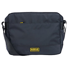 Buy Barbour International Bolt Messenger Bag, Black Online at johnlewis.com