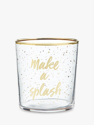 Buy John Lewis & Partners Fun 'Make A Splash' Tumbler, Clear/Multi, 360ml Online at johnlewis.com