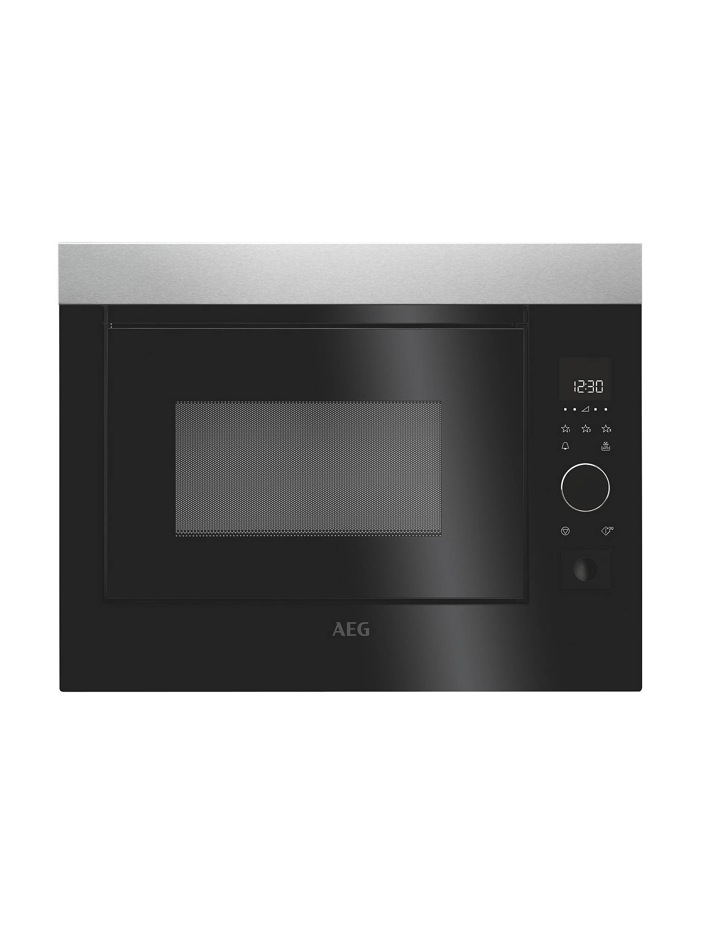 BuyAEG MBE2658S-M Solo Microwave, Black/Stainless Steel Online at johnlewis.com