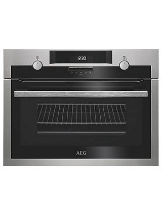 Buy AEG KME561000M CombiQuick Compact Built-In Oven with Microwave, Stainless Steel Online at johnlewis.com