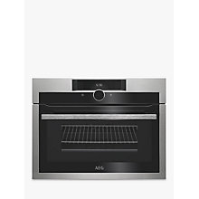 Buy AEG KME861000M CombiQuick Compact Oven with Microwave, Stainless Steel Online at johnlewis.com
