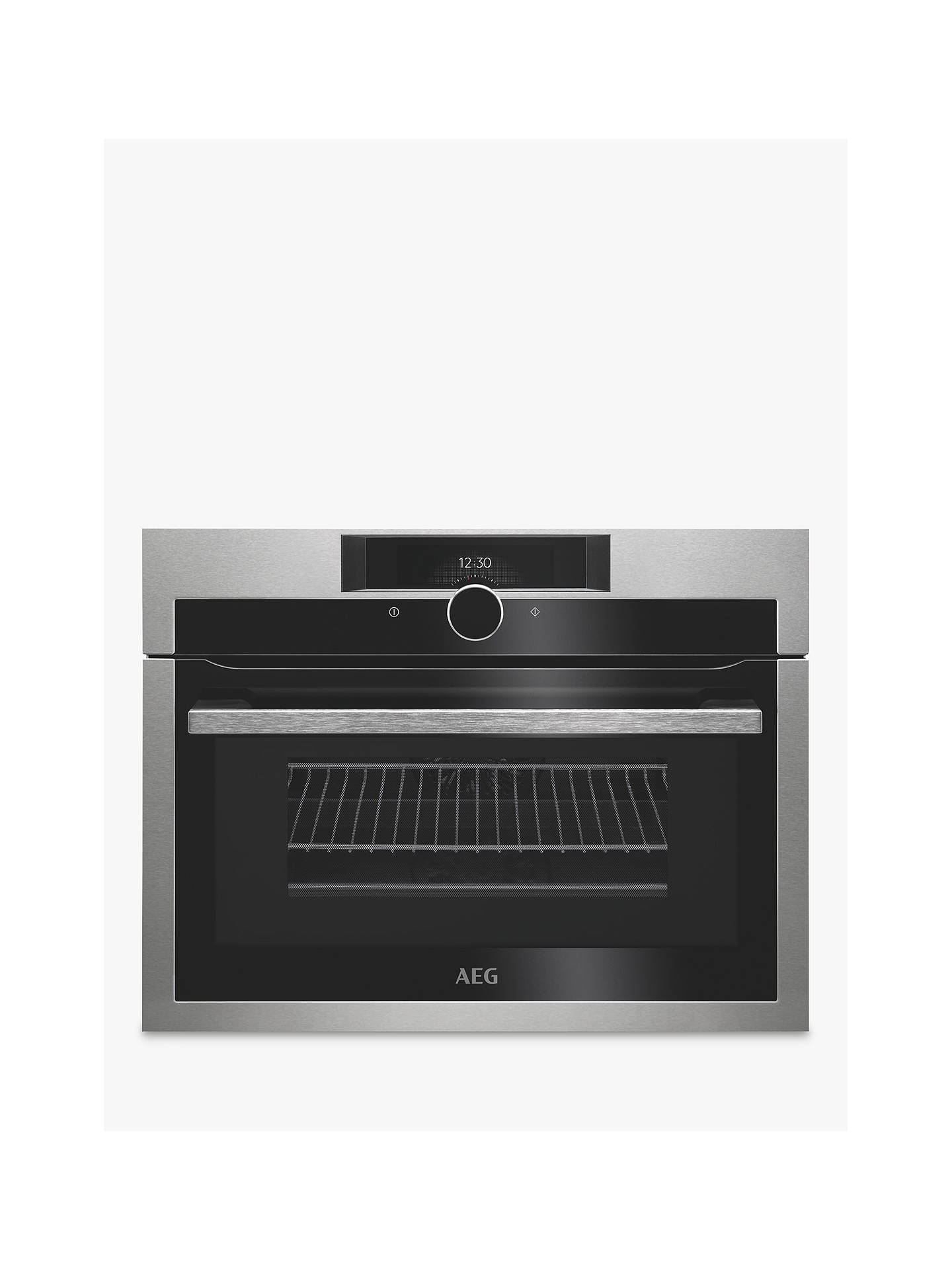 BuyAEG KME861000M CombiQuick Compact Oven with Microwave, Stainless Steel Online at johnlewis.com