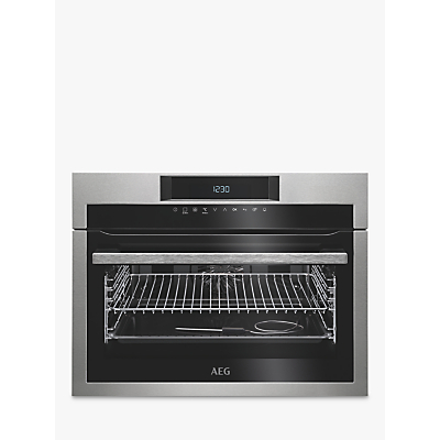 Image of AEG KPE742220M Built-In Compact Single Oven, Stainless Steel