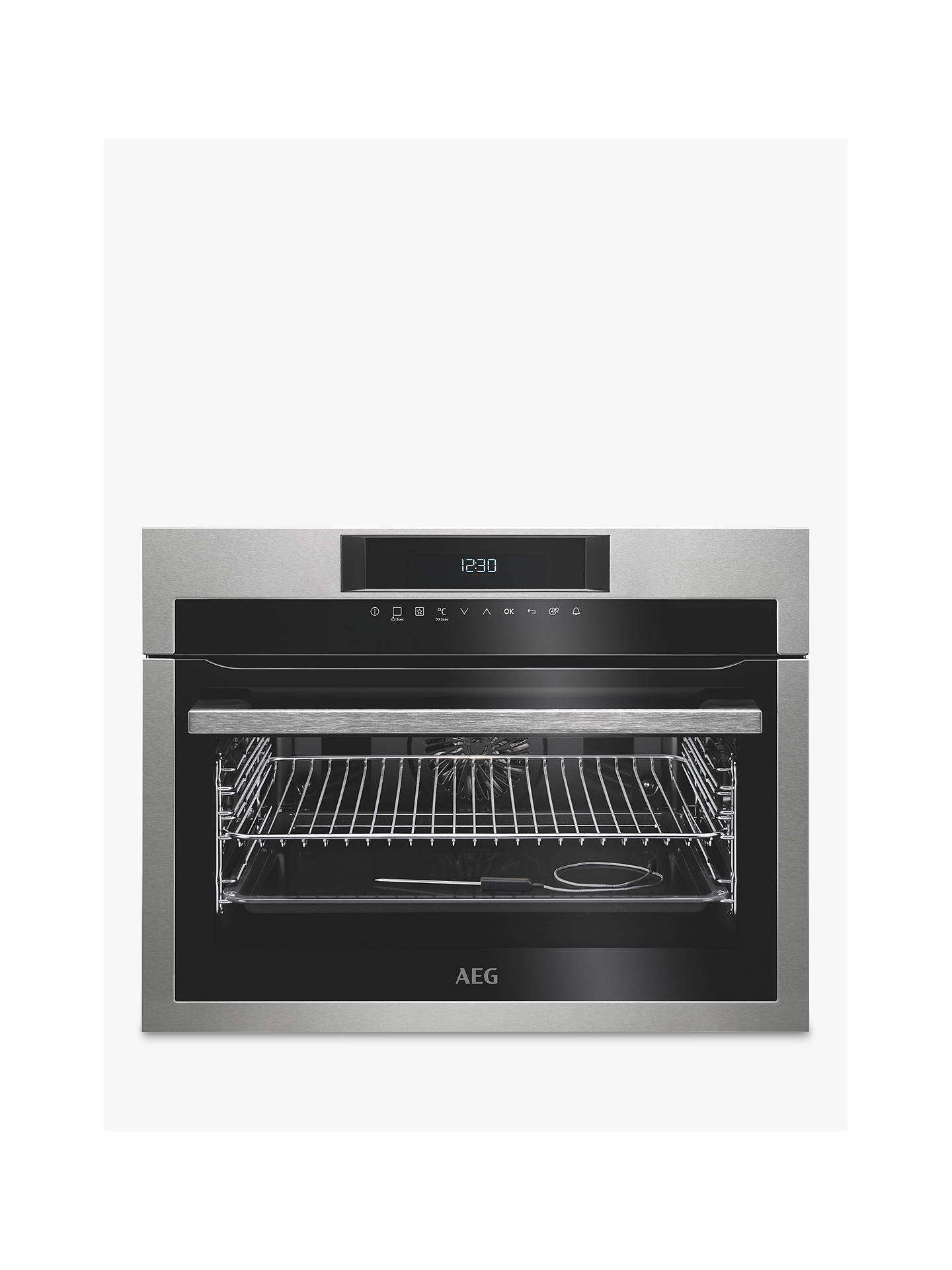 BuyAEG KPE742220M Built-In Compact Single Oven, Stainless Steel Online at johnlewis.com