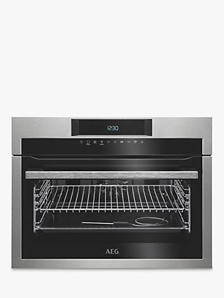 AEG KPE742220M Built-In Compact Single Oven, Stainless Steel