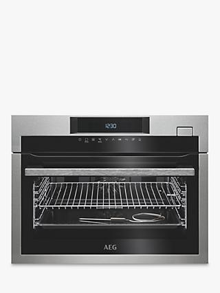 AEG KSE782220M Built-In Compact Single Oven with Steam, Stainless Steel