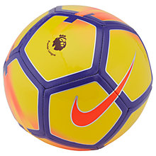 Buy Nike Premier League Pitch Football, Size 5, Yellow/Purple/Crimson Online at johnlewis.com