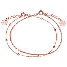 Buy CLUSE Double Chain Ball Bead Bracelet, Rose Gold Online at johnlewis.com