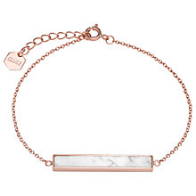 Buy CLUSE Rectangular Bar Chain Bracelet Online at johnlewis.com