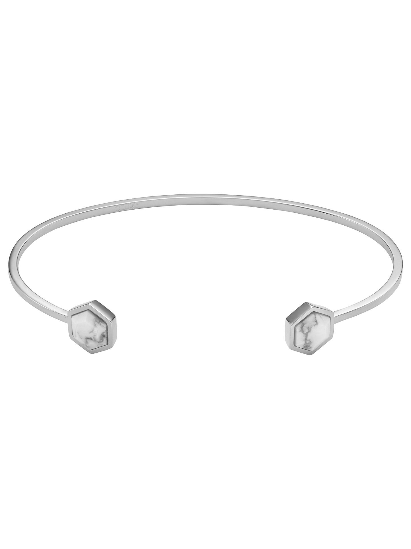 BuyCLUSE Hexagonal Open Bangle, Silver Online at johnlewis.com