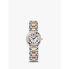 Buy Longines L81115786 Women's Prima Luna Automatic Date Two Tone Bracelet Strap Watch, Silver/Rose Gold Online at johnlewis.com