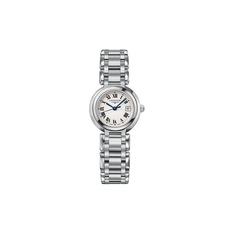 longines l81104716 women s prima luna date bracelet strap watch