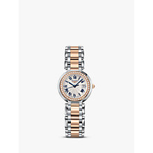 Buy Longines L81105796 Women's Prima Luna Automatic Diamond Date Two Tone Bracelet Strap Watch, Silver/Rose Gold Online at johnlewis.com