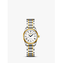 Buy Longines L22575117 Women's Master Collection Automatic Date Bracelet Strap Watch, Silver/Gold Online at johnlewis.com