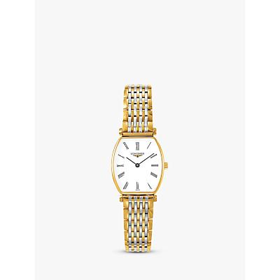 Longines L42052117 Women's La Grande Classique Two Tone Bracelet Strap Watch, Silver/Gold