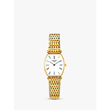 Buy Longines L42052117 Women's La Grande Classique Two Tone Bracelet Strap Watch, Silver/Gold Online at johnlewis.com